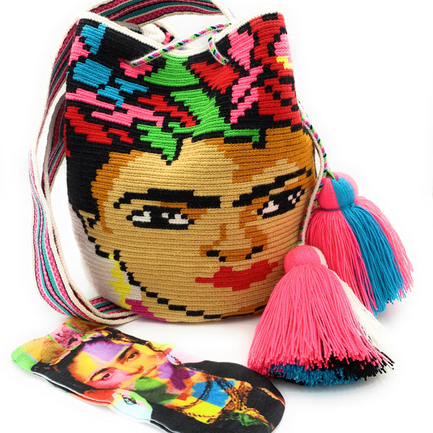 Frida Kahlo Wayuu Mochila Bag + FREE socks!