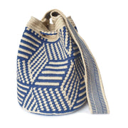 Denim Zebra Wayuu Bag