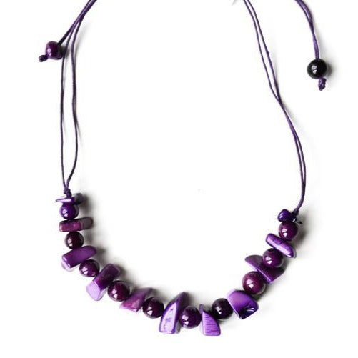 Ave Girl Tagua Nut and Acai Berry Necklace