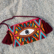 Kona Tapestry Fuzzy Eye bag