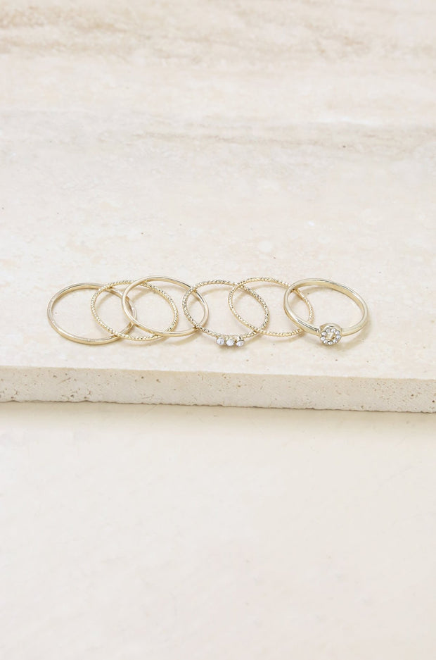 Dainty Stacking Rings / Size 6
