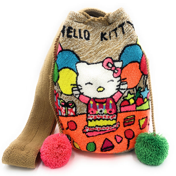 Hello Kitty Tapestry Fuzziy Bag