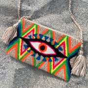 Haiti Tapestry Fuzzy Eye Bag