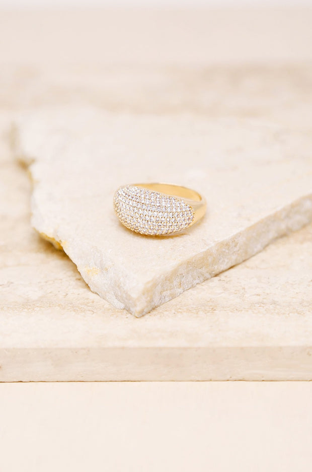 Crystal Cluster Knockout Ring in Gold