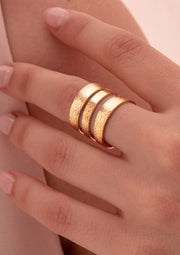 3 Satin Lines Ring