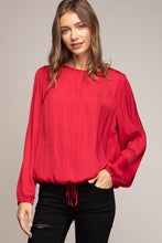 Load image into Gallery viewer, Color Me Crimson Blouse