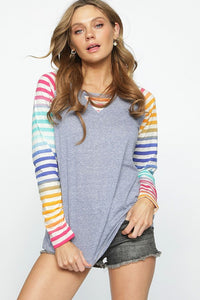 Multi-color Knit Top
