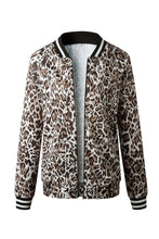 Load image into Gallery viewer, Leopard Printed Bomber Jacket