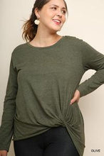 Load image into Gallery viewer, OLIVE LONG SLEEVE TOP