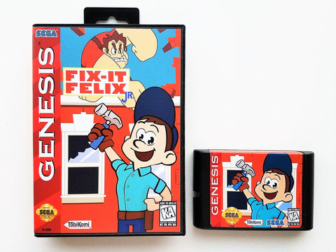 Fix It Felix Jr. Wreck it Ralph - (Sega Genesis)