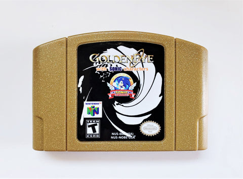 Golden Eye 007 with Sonic Characters (N64)