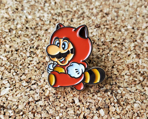 Tanooki Suit Raccoon Super Mario - Metal Enamel Collector Pin