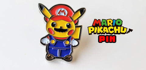 Pikachu x Mario - Metal Collector Pin