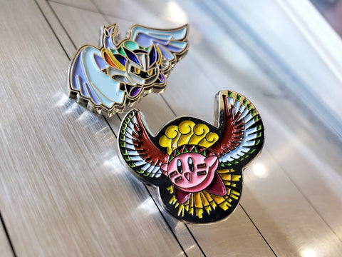 Lugia Meta Knight & Ho-oh Kirby - Metal Collector Pins