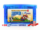 Super Mario Advance 4 Bros 3 BONUS 38 e-Reader ecard Levels Gameboy Advance GBA