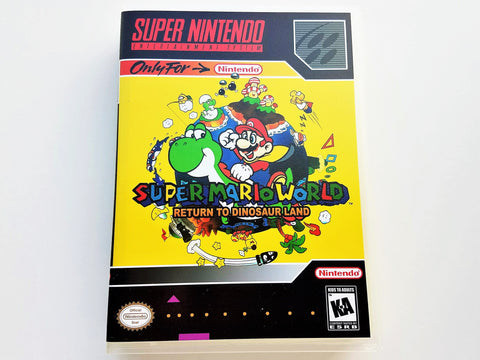 Super Mario World Return To Dinosaur Land- (SNES)