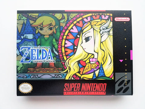 Zelda Goddess of Wisdom - (SNES) Cover #1