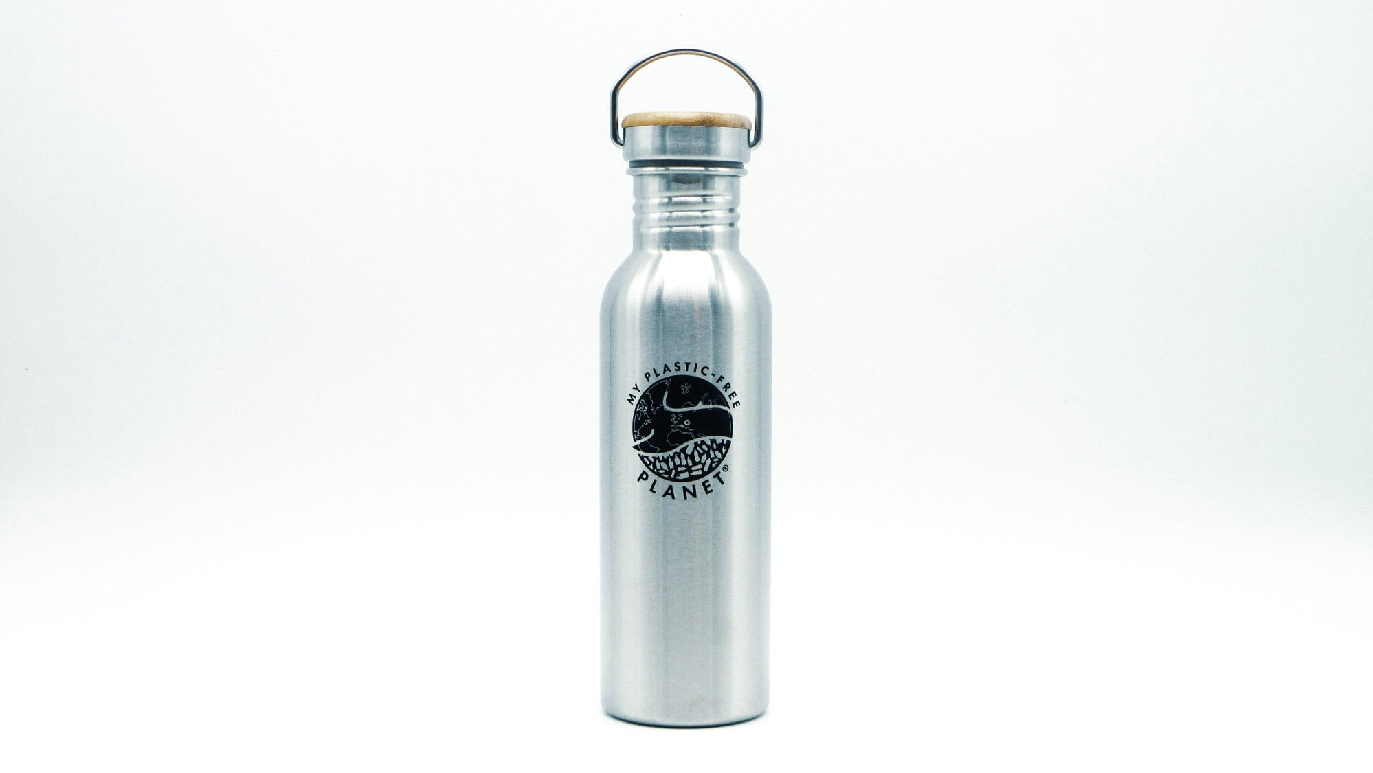 Classic Silver - Bamboo Lid 750ml