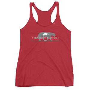 Wildcat Sanctuary Logo women's racerback tank