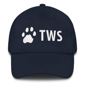 The Wildcat Sanctuary paw print dad hat