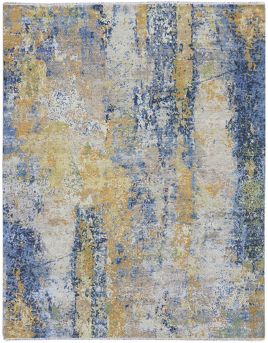 Glamour Hand Knotted Rug - Gla-40 Blue Sapphir