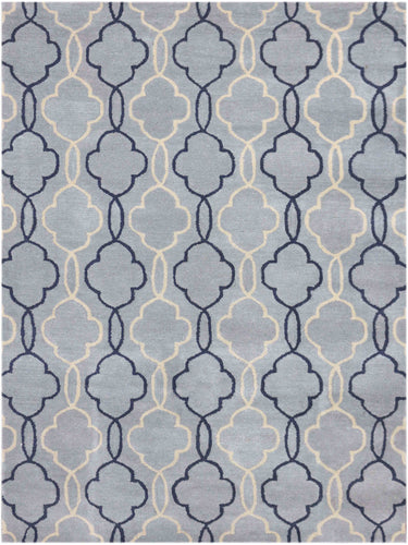 Modern Hand Tufted - MOD-9 Water Blue