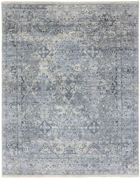 Nuit Arab Hand Knotted Rug - Nui-15 Metal Gray