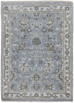 Nuit Arab Hand Knotted Rug - Nui-31 Ice Blue