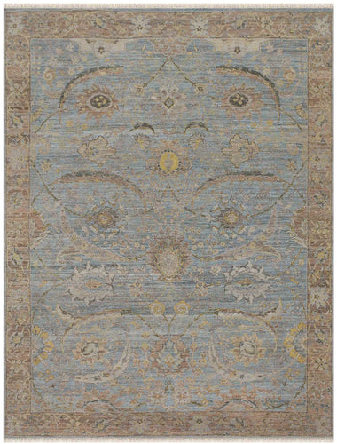 Nuit Arab Hand Knotted Rug - Nui-48 Water Blue