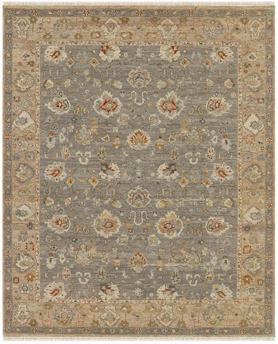 Nuit Arab Hand Knotted Rug -Nui-54 Silver Sand