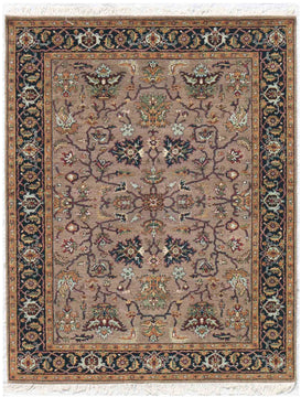 Nuit Arab Hand Knotted Rug -Nui-57 Camel-Navy Blue