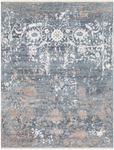 Rhapsody Hand Knotted Rug - Rhp-1 Water Blue