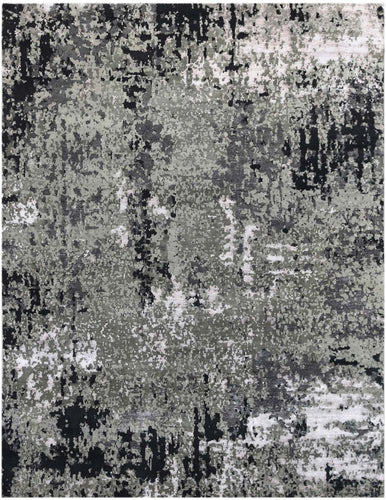 Synergy Hand Knotted Rug - SYN-18 Charcoal
