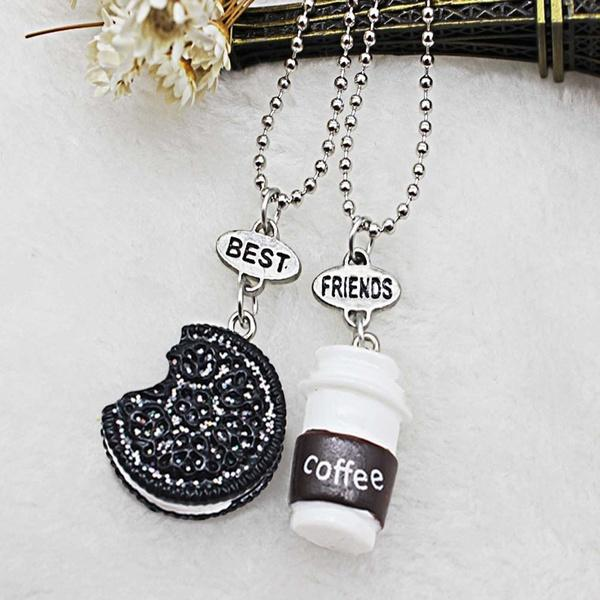 Best Friends Coffee Necklace