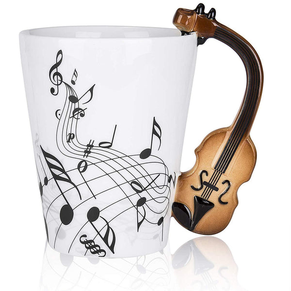 Violin Ceramic Coffee Mug