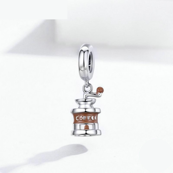 Luxyglo Sterling Silver Coffee Grinder Pendant