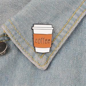 Coffee Cup Brooch Pins