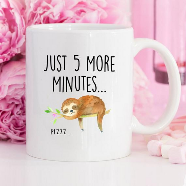 Sloth Just 5 More Minutes Coffee Mug
