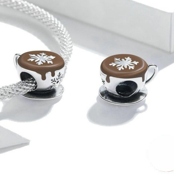 Luxyglo Snowflake Latte Coffee Charm