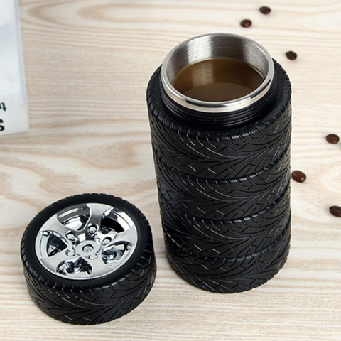 Spiffy Auto Tires Thermos Travel Mug