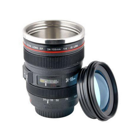 Zoom Camera Lens Travel Mug