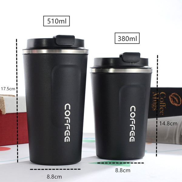 Coffee Thermos Travel Mug - Measurements