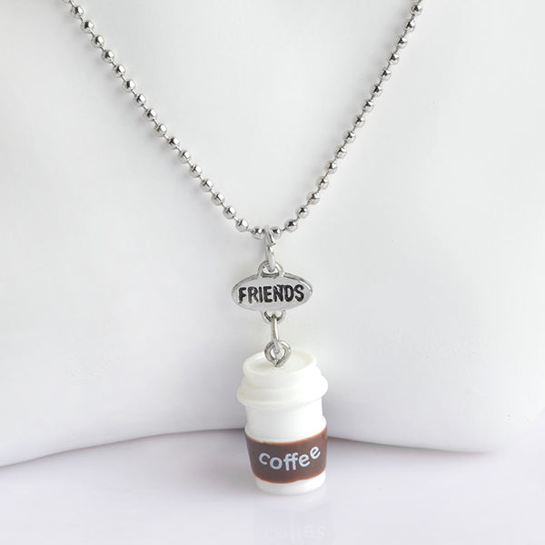Luxyglo 'Best Friends' Coffee Necklace