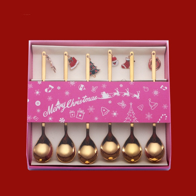 Christmas Gold Plated Coffee Spoon