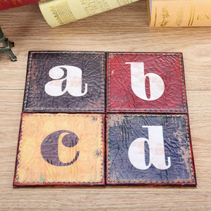 Vintage Alphabet Letter Coffee Coaster