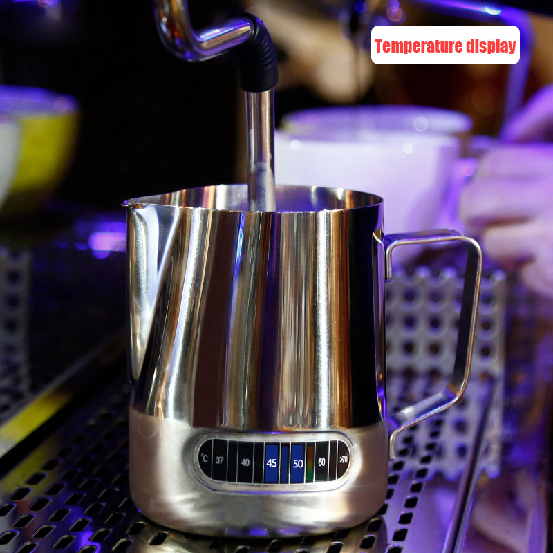 Milk Frothing Pitcher - Starbrew Espresso Thermometer Coffee Art Pitcher