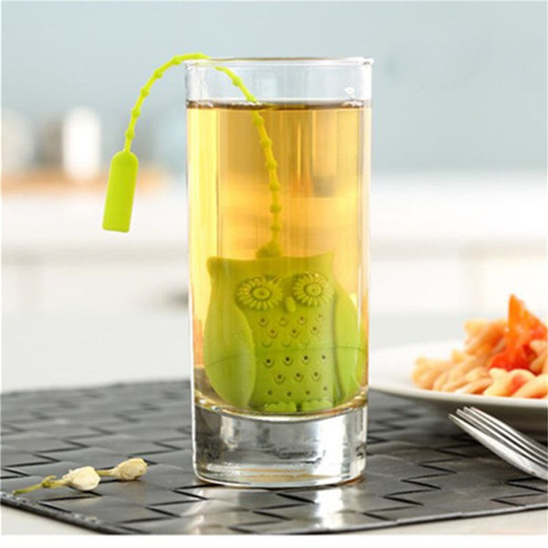 Owl Tea Infuser in a glass