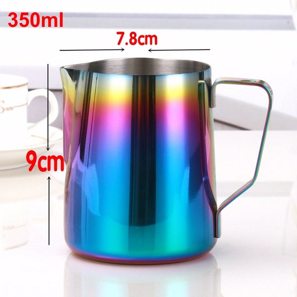 Milk Frothing Pitcher - Starbrew Titanium Coffee Art Pitcher Measurement