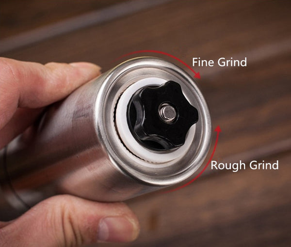 Manual Coffee Grinder - Starbrew One Portable Coffee Grinder With Rubber Loop Ring