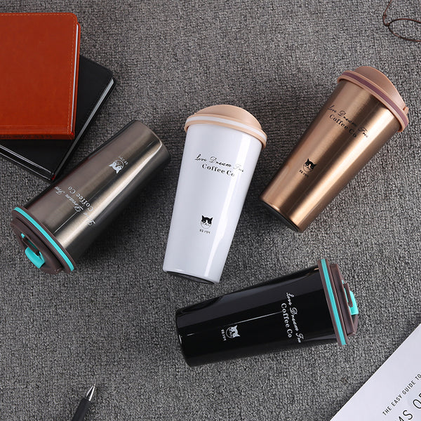 Travel Mug - Arom Stainless Steel Thermos Travel Mug